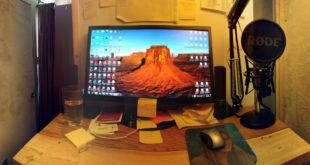 Derek's desk