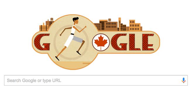Google Doodle of Tom Longboat